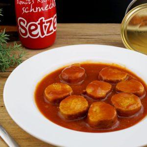 Currywurst Serviervorschlag